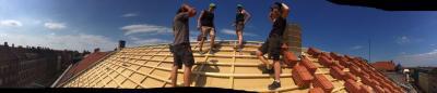 Dachbaustelle